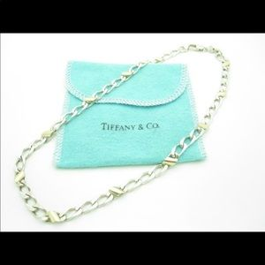 Authentic Tiffany and Co gold and silver chain.